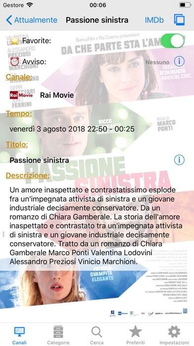 Italian TV Schedule Screenshots