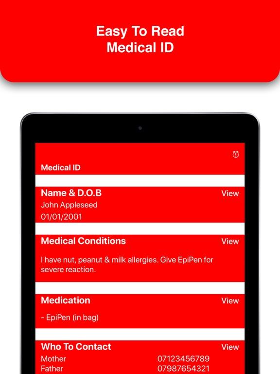 MedicalMe: Emergency ID Alarm Screenshots
