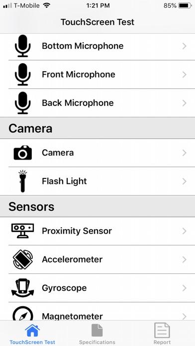 Touchscreen Test Screenshots