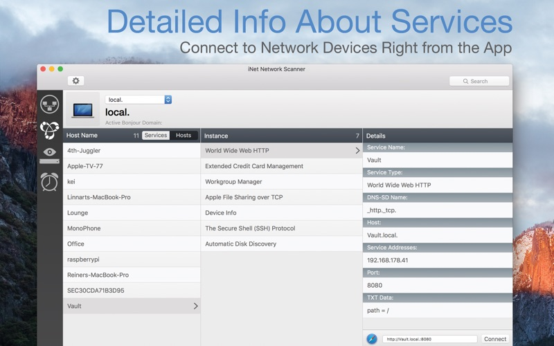iNet Network Scanner Screenshots