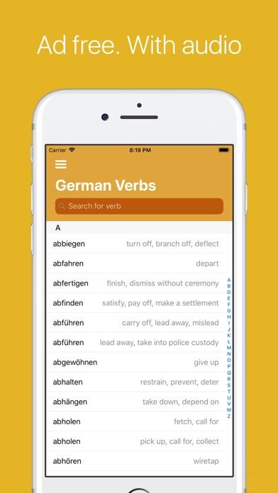 German Verb Conjugator Pro Screenshots