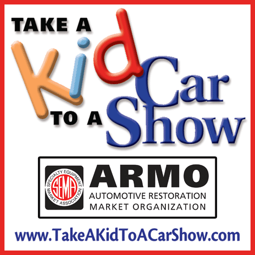 SEMA - Take a Kid to a Car Show coloring book icon