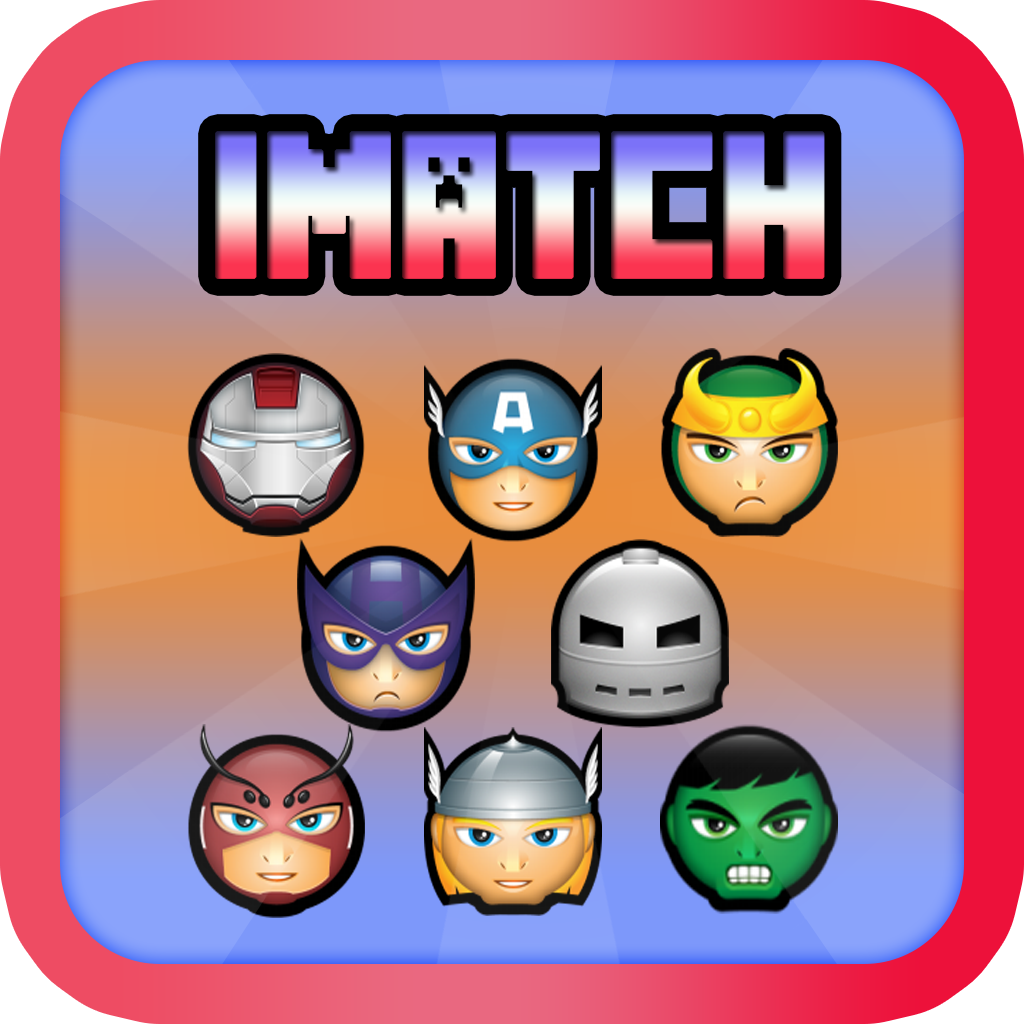 iMatch Super Hero Matching : x3 Match Puzzle Connection Edition for every one