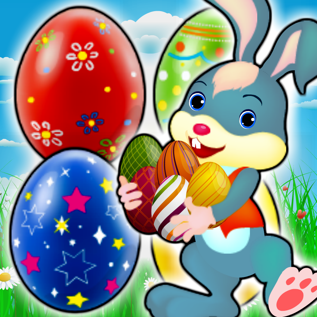 Easter Bunny Eggs - Free Match-3 Chocolate Egg Hunt