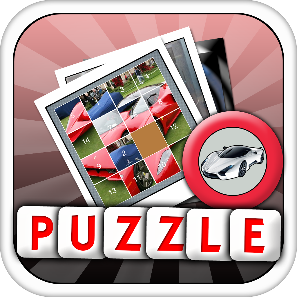 Tile Puzzle : 100 Greatest Supercars of All Time Free ( Modern Cars and Racing Sliding Puzzle )