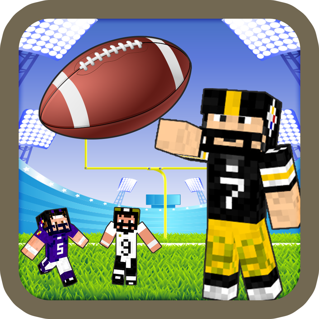 American Football Super Hero Skin Finding NFL Bowl - Block Craft World Edition