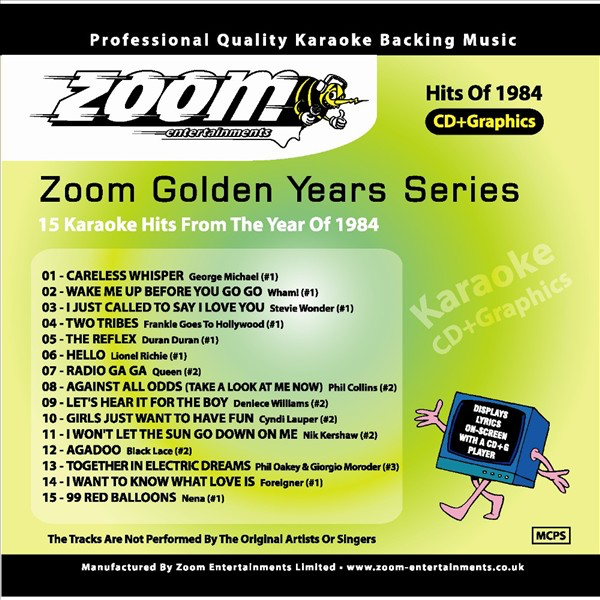 Zoom Karaoke Golden Years Series - 1984 by Zoom Karaoke