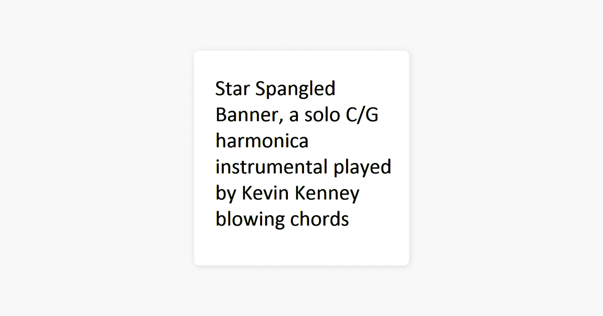 Star Spangled Banner Single By Kevin Kenney On Apple Music