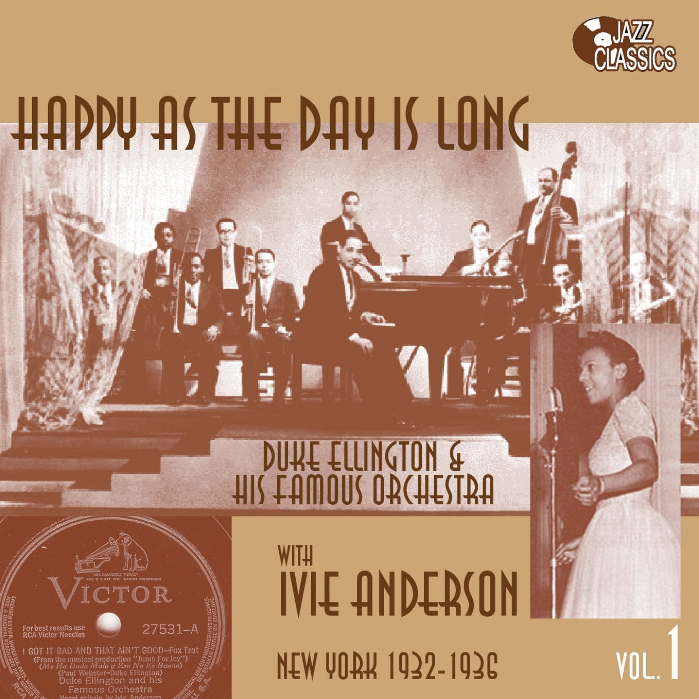 Happy As the Day Is Long (feat. Ivie Anderson) [Duke Ellington & His famous Orchestra, Vol. 1]
