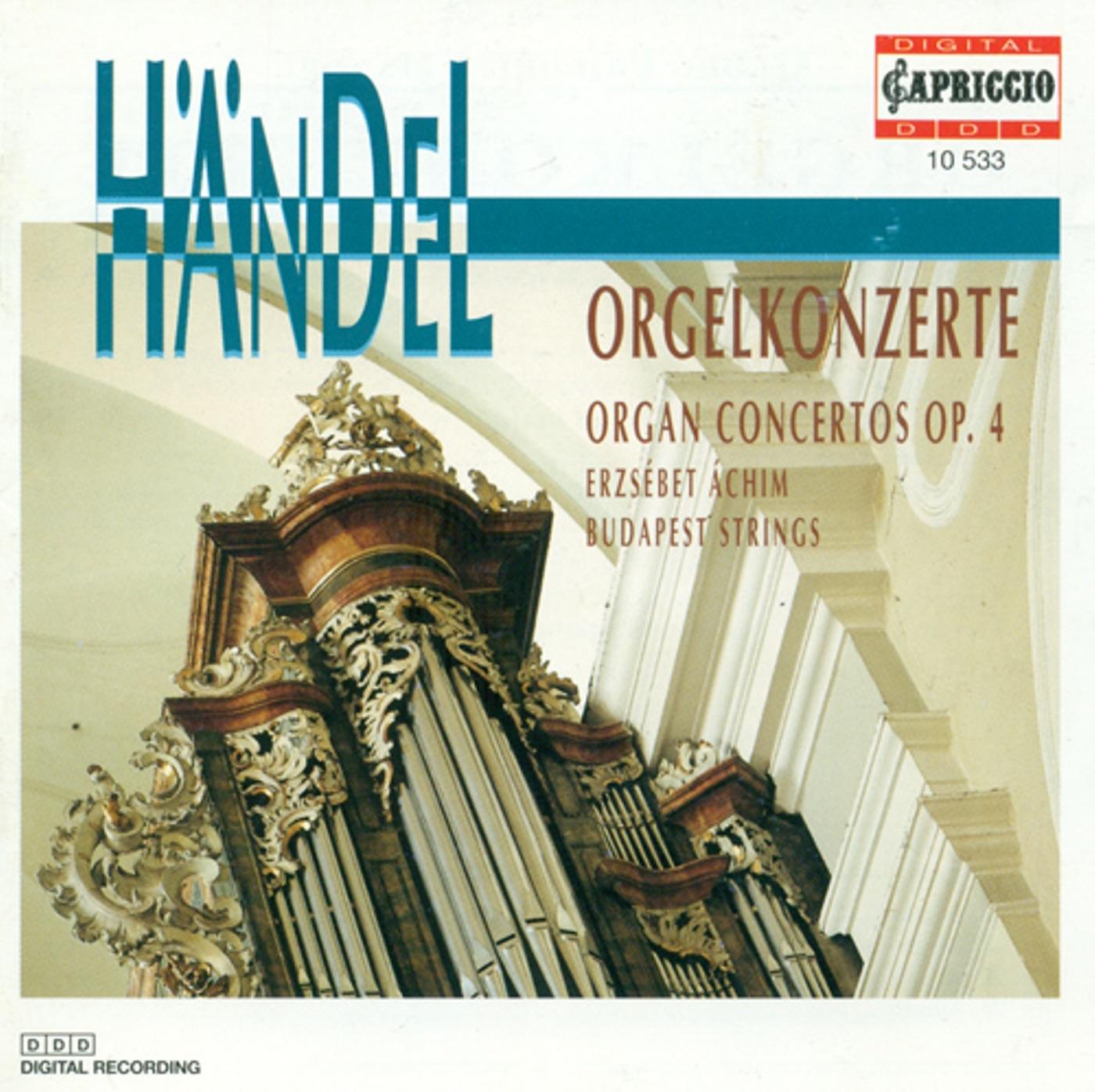 Handel, G.F.: Organ Concertos Nos. 1-6
