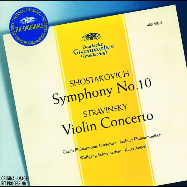 Stravinsky: Violin Concerto in D - Shostakovich: Symphony No  10, Op  93  by Berlin Philharmonic, Czech Philharmonic Orchestra, Karel Ancerl &