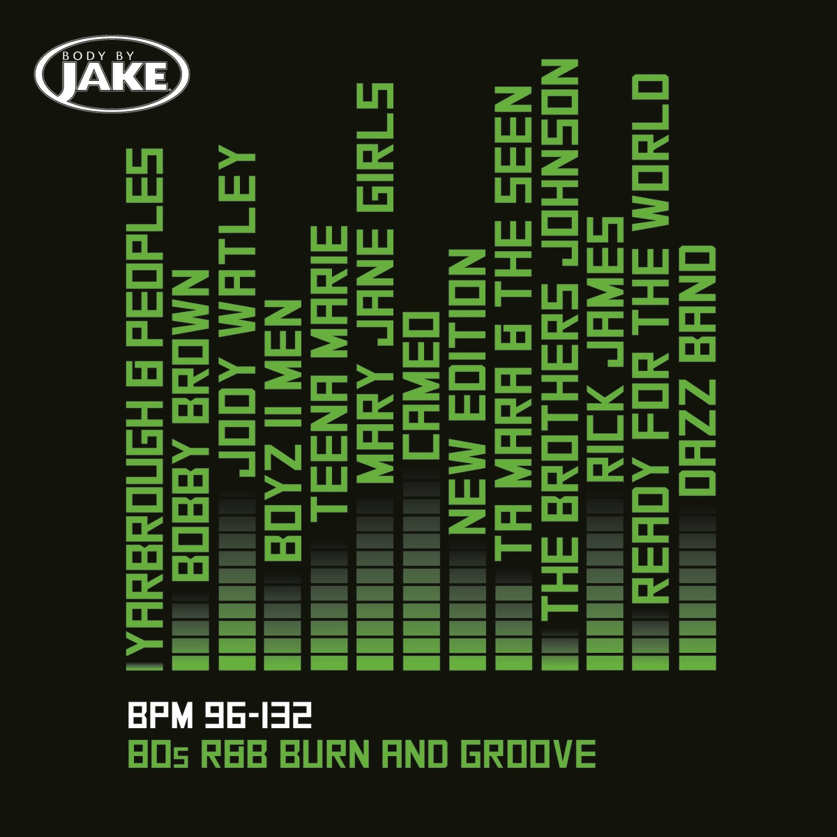 Body By Jake 80s RB Burn And Groove BPM 96-132 Various Artists CD cover