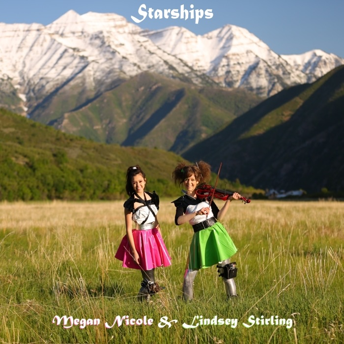 Starships - Single Megan Nicole  Lindsey Stirling CD cover