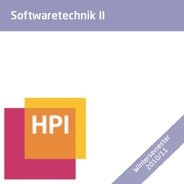 Softwaretechnik II (WS 2010/11) - Created with tele-TASK - more than video! Powered by Hasso Plattner Institute (HPI).