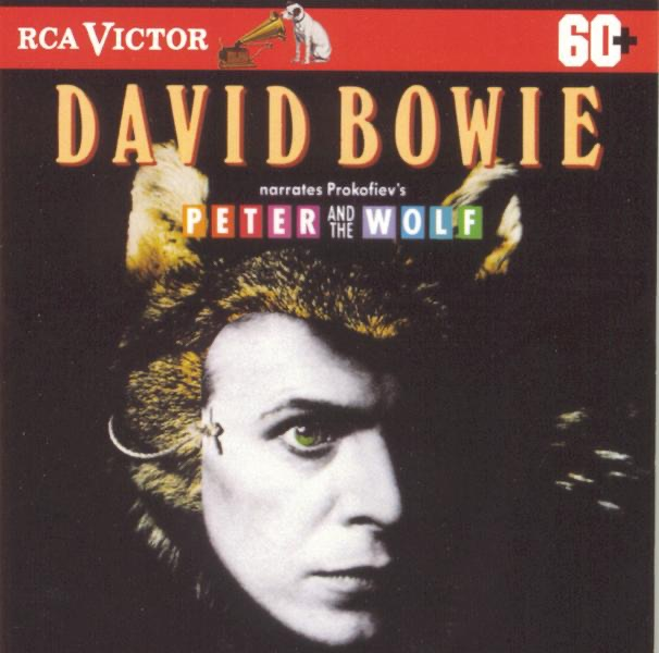 David Bowie Narrates Prokofievs Peter and the Wolf David Bowie The Philadelphia Orchestra  Eugene Ormandy CD cover