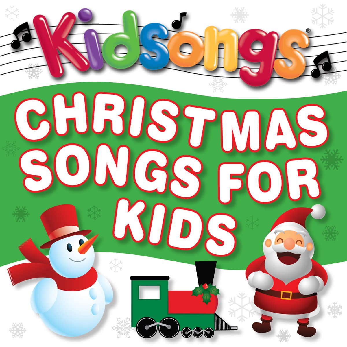 Christmas Songs for Kids Album Cover by Kidsongs