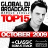 Global DJ Broadcast Top 15 - October 2009 (Bonus Track Version)