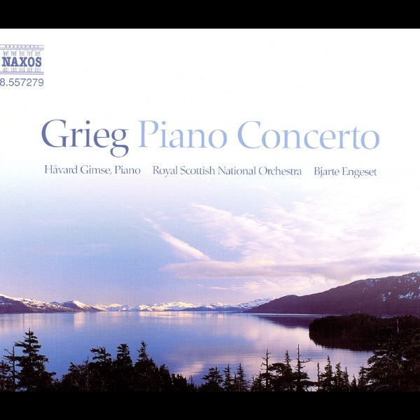 Grieg Piano Concerto Bjarte Engeset Håvard Gimse  Royal Scottish National Orchestra CD cover