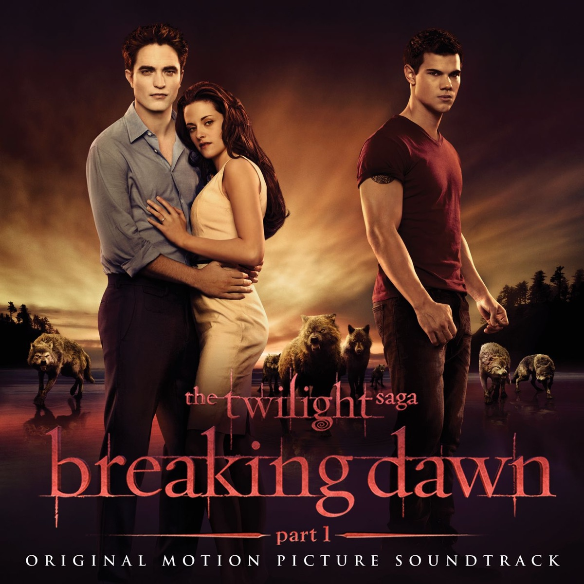 The Twilight Saga Breaking Dawn Pt 1 Original Motion Picture Soundtrack Deluxe Version Various Artists CD cover