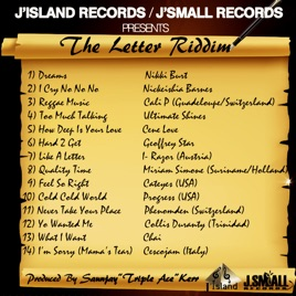 The Letter Riddim by Various Artists on iTunes