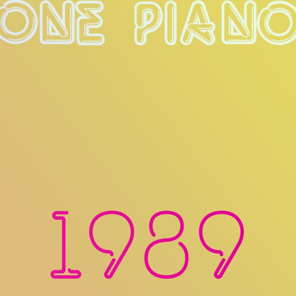 1989 One Piano CD cover