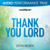 Thank You Lord (Original Key With Background Vocals) - Don Moen