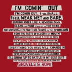 Shovels & Rope - I'm Comin' Out (Radio Edit)