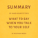Milkyway Media - Summary of Shad Helmstetter's What to Say When You Talk to Your Self by Milkyway Media (Unabridged)