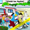 Globi - Globi im Spital Grafik