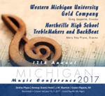 Michigan Music Conference 2017 Western Michigan University Gold Company Northville H.S. Treblemakers and Backbeat (Live)