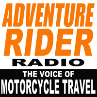 Podcast cover art for Adventure Rider Radio Motorcycle Podcast. Travel Adventures, Bike Tech Tips