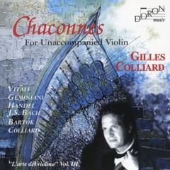 Chaconnes for Unaccompanied Violin (L'arte del violino, Vol. 3)