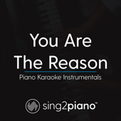 You Are the Reason (Higher Key - Originally Performed by Calum Scott) [Piano Karaoke Version]