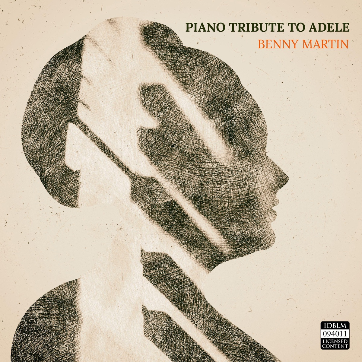 Piano Tribute to Adele Album Cover by Benny Martin