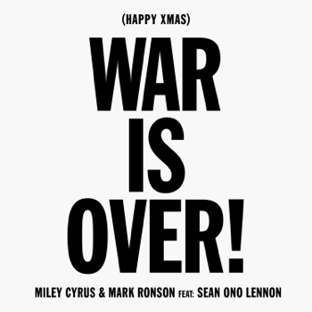 Miley Cyrus & Mark Ronson Happy Xmas (War Is Over) [feat. Sean Ono Lennon] music video