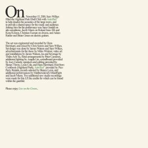 Live on the Green (feat. Sam Gendel, Jacob Mann, Christian Euman, Brian Green & Adam Ratner)