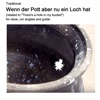 Traditional Wenn der Pott aber nu ein Loch hat related to There s a hole in my bucket for oboe cor anglais and guitar Single