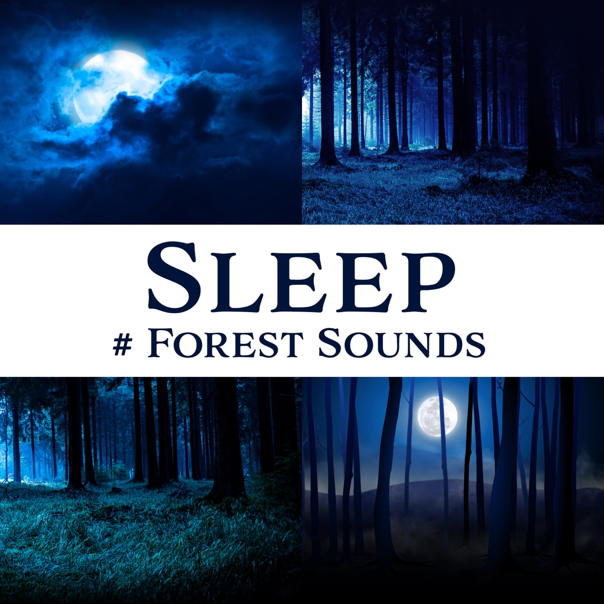 Sleep: # Forest Sounds Album Cover by Relaxing Nature Sounds
