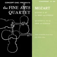 Mozart: Horn Quintet, K. 407 & Oboe Quartet, K. 370 (Remastered from the Original Concert-Disc Master Tapes)