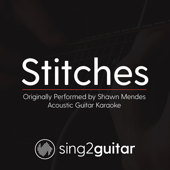 Stitches (Originally Performed By Shawn Mendes) [Acoustic Guitar Karaoke]-Sing2Guitar