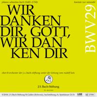Chor der J.S. Bach-Stiftung, Orchester der J.S. Bach-Stiftung & Rudolf Lutz - Bachkantate, BWV 29 - Wir danken dir, Gott, wir danken dir (Live) artwork