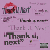 thank u, next - Ariana Grande Cover Art