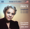 Fort Smith Symphony & John Jeter - Price: Symphonies Nos. 1 & 4  artwork