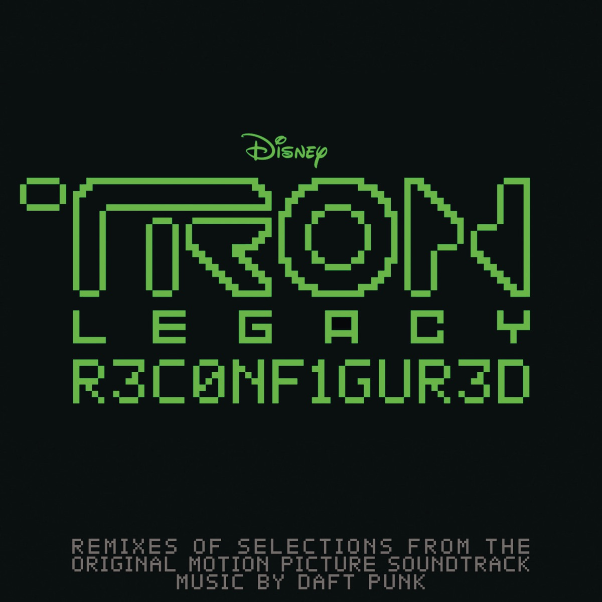 TRON Legacy Reconfigured Daft Punk CD cover