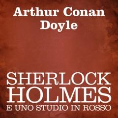 Sherlock Holmes e uno studio in rosso