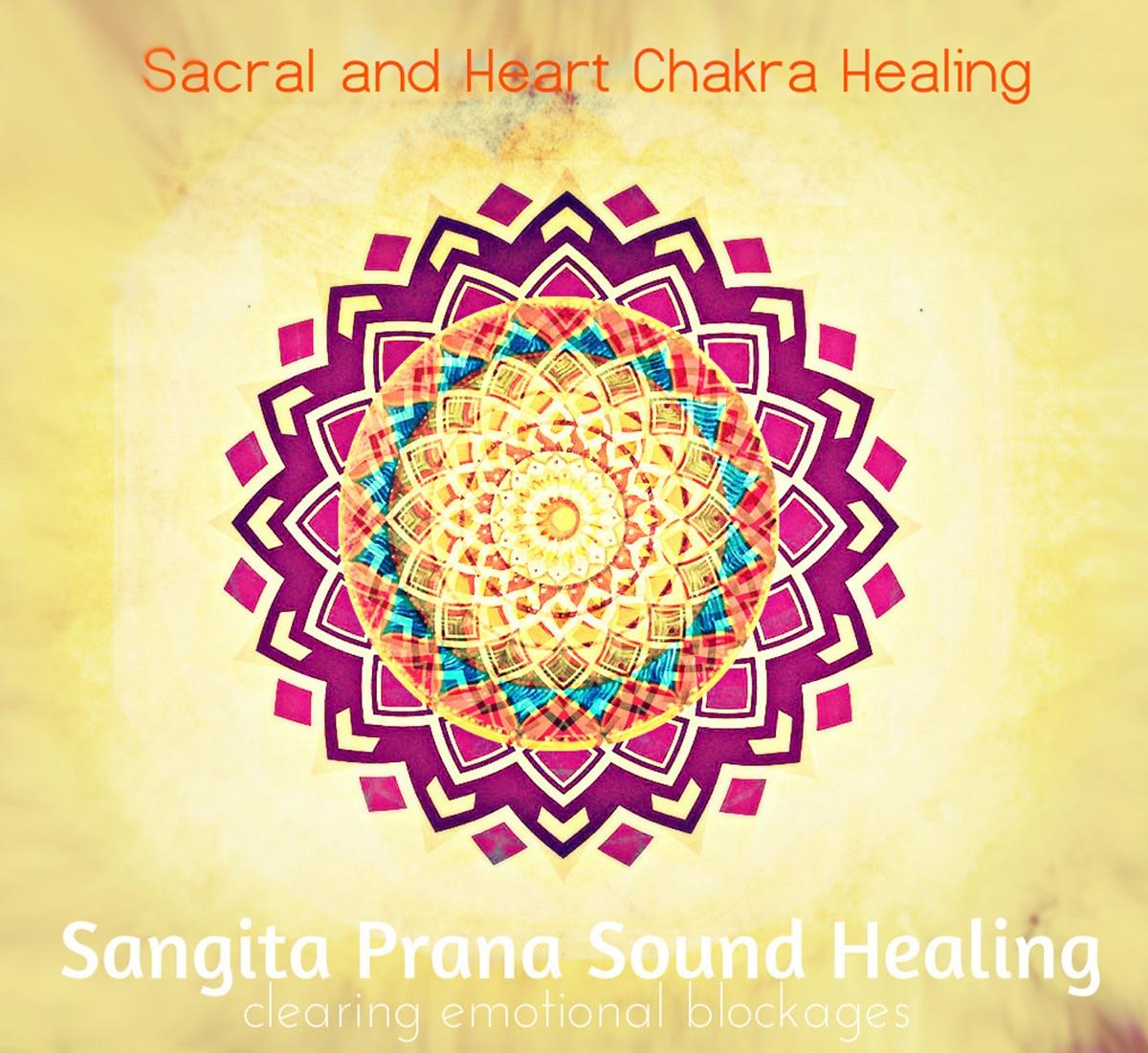 Sacral and Heart Chakra Healing Album Cover by Sangita Prana
