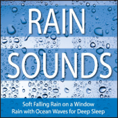 Rain Sounds: Soft Falling Rain On a Window, Rain With Ocean Waves for Deep Sleep