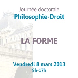 Journ E Doctorale Philosophie Droit La Forme
