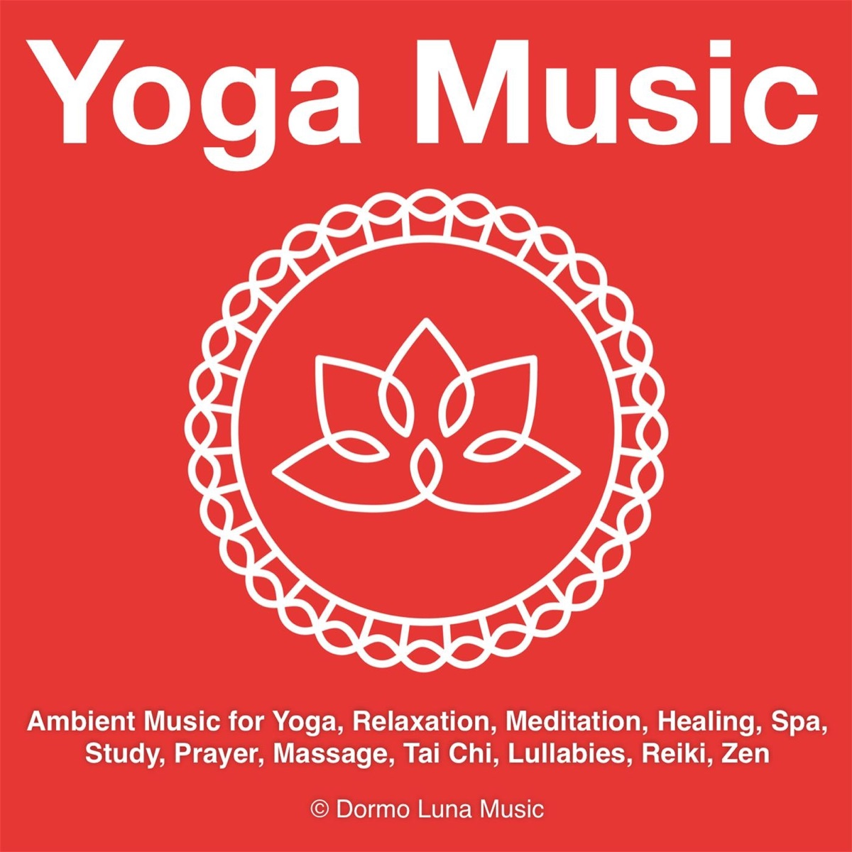 Yoga Music Album Cover by Dormo Luna Music