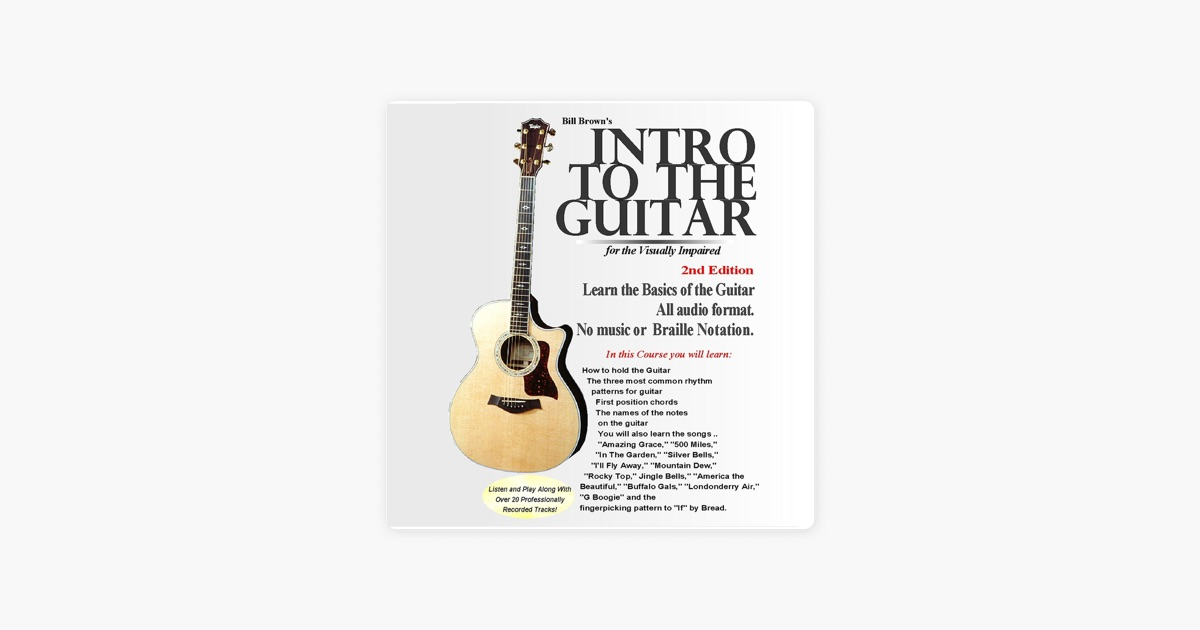 Intro To The Guitar For The Visually Impaired By Bill Brown On Itunes